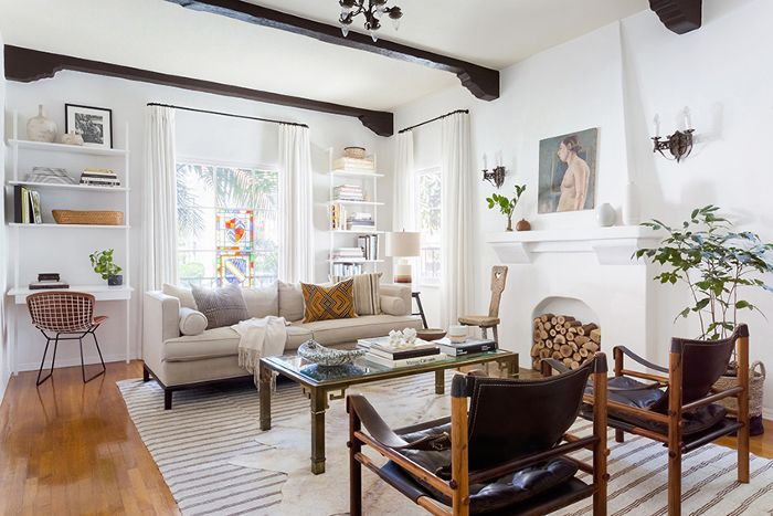 Inside the 1930s art deco home with major cali cool vibes - Art deco living room ...