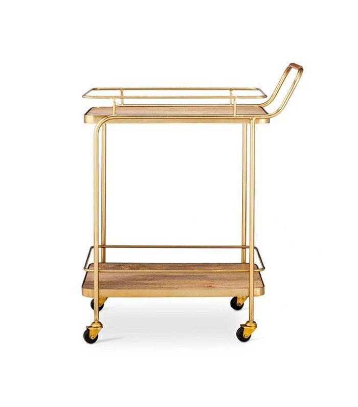 Threshold Leather Bar Cart