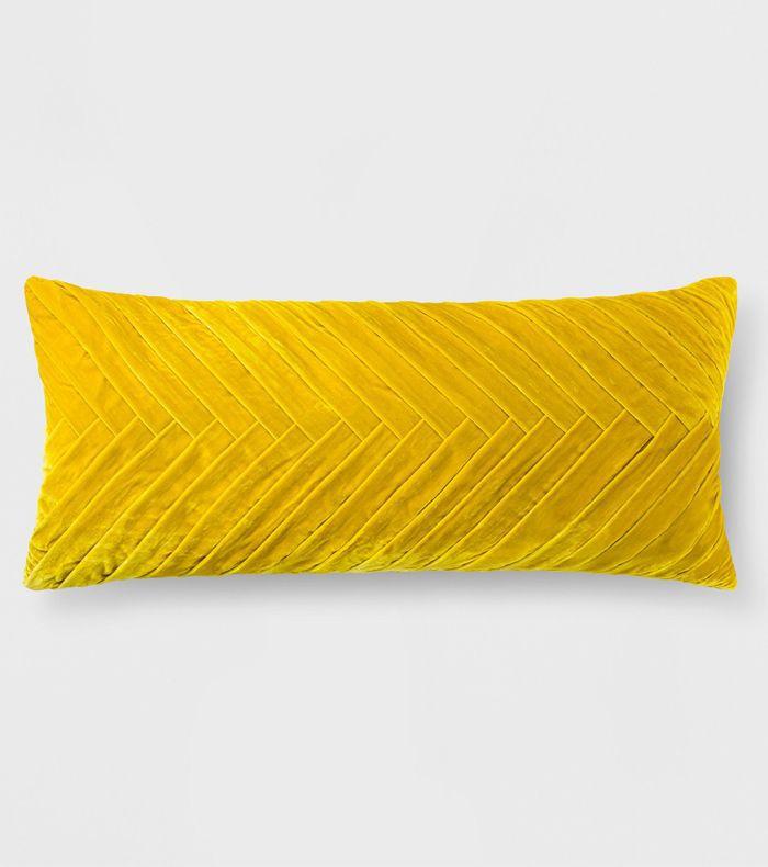 Target Pleated Velvet Oversized Lumbar Pillow