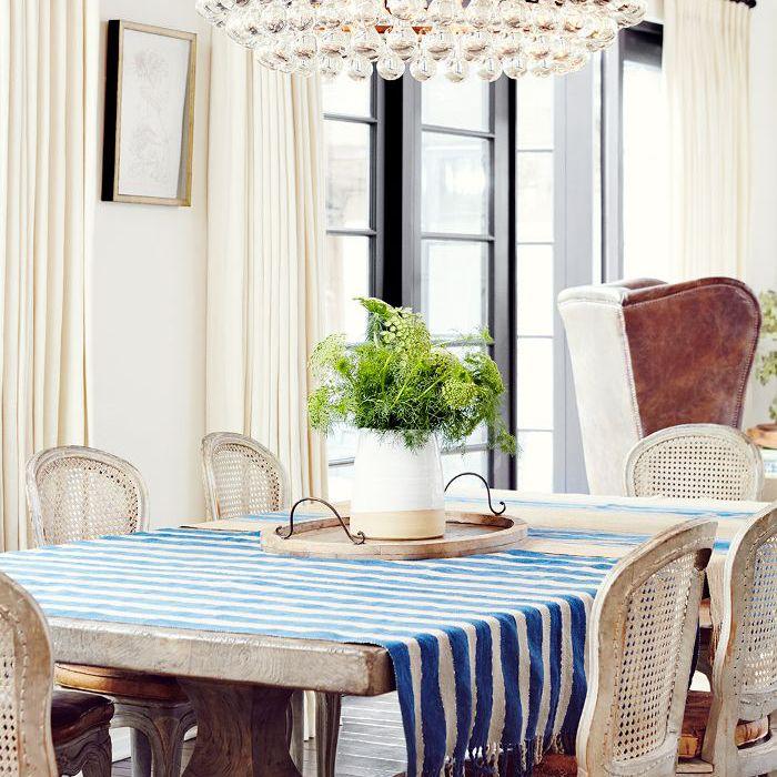 Dining room in Sasha Alexander's home