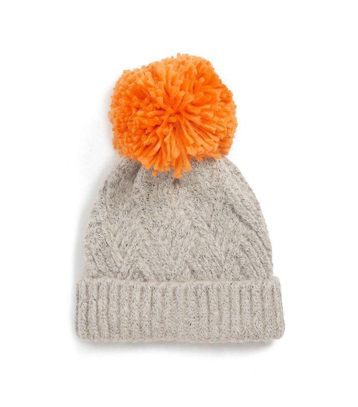 Topshop Chevron Knit Beanie Hat