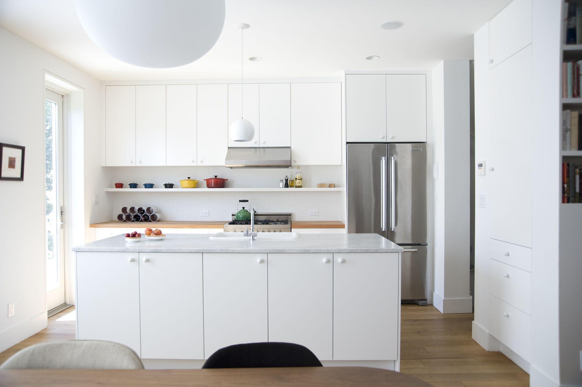 Minimalist kitchen with concealed storage