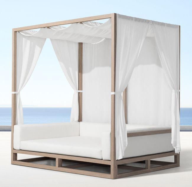 Aviara Teak Canopy Day Bed