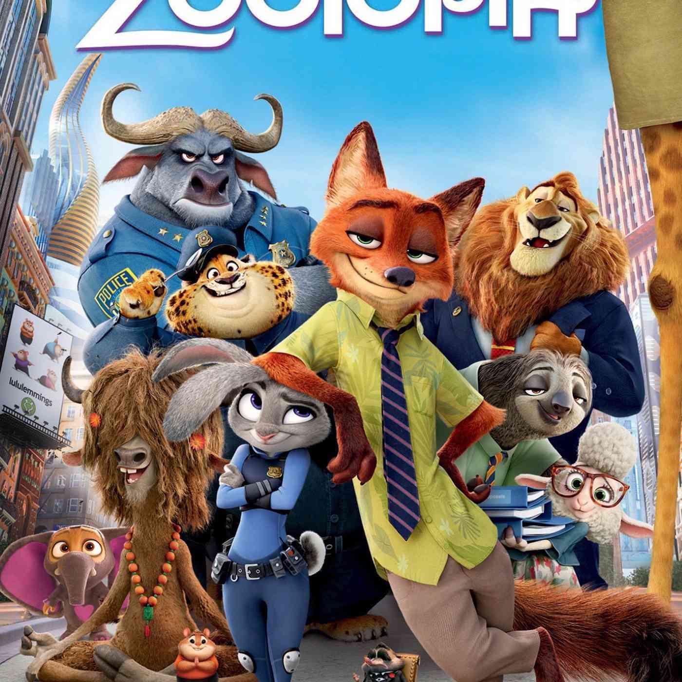 Zootopia poster.