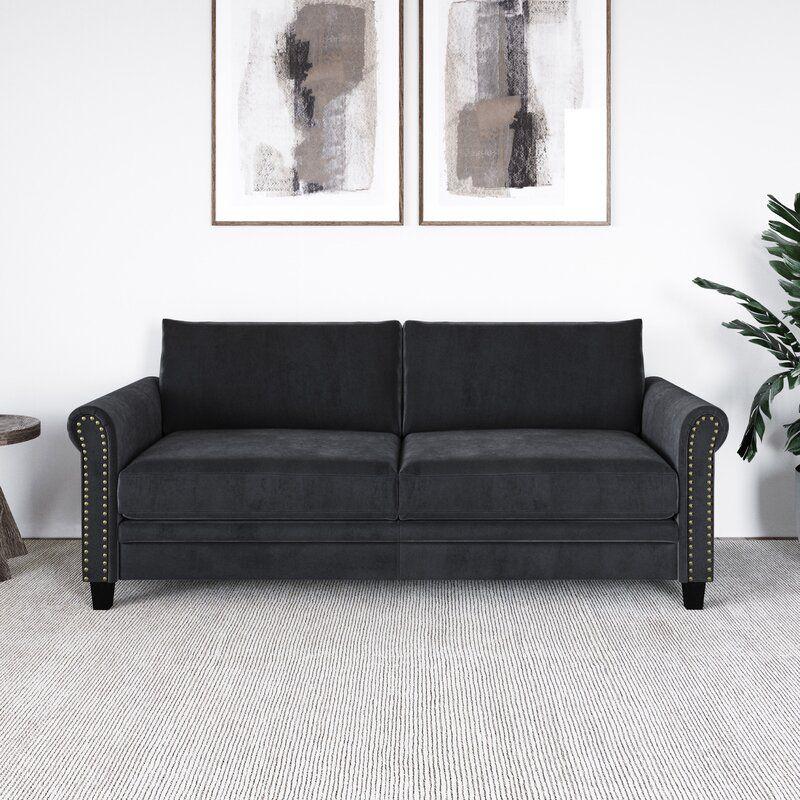 Winston Porter Falco 80.1'' Round Arm Sofa