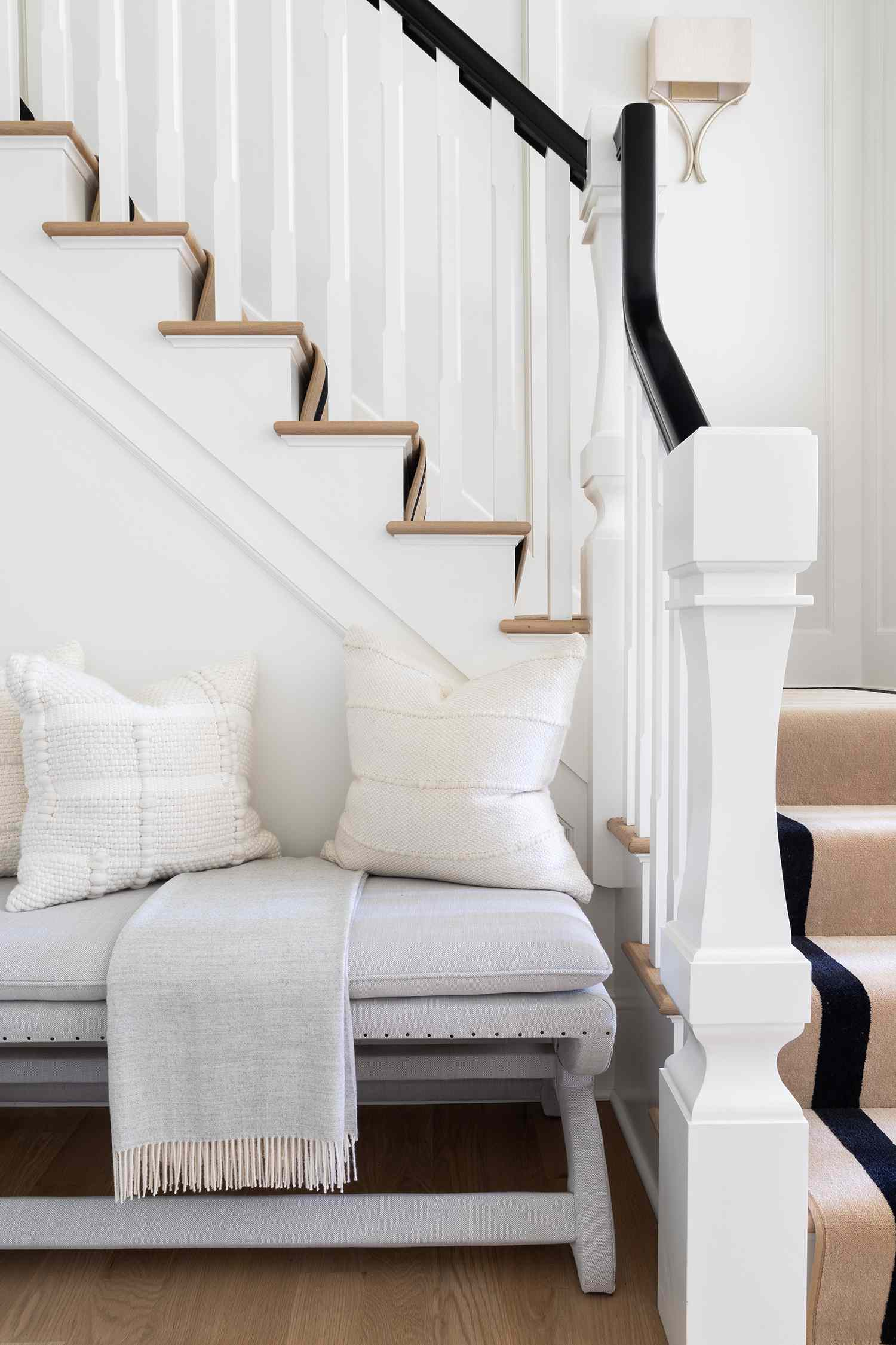 new jersey home tour - entryway staircase