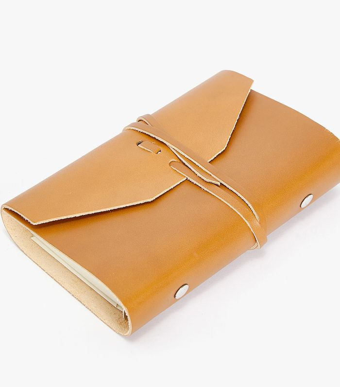 Zara Home Large Leather Wrap Day Planner