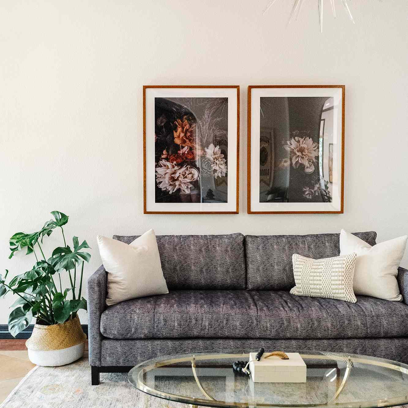office with vintage Turkish rug