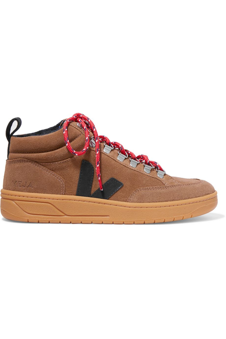 Veja Net Sustain Roraima Leather High-top Sneakers