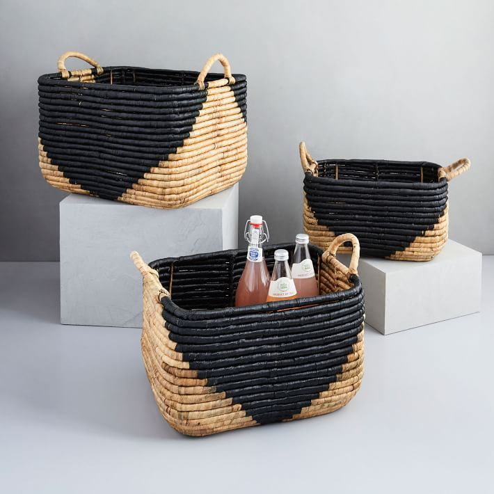 Two-Tone Seagrass Baskets