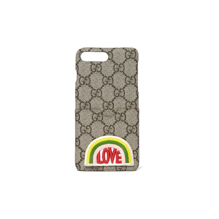 Gucci Appliquéd Coated-Canvas iPhone Case