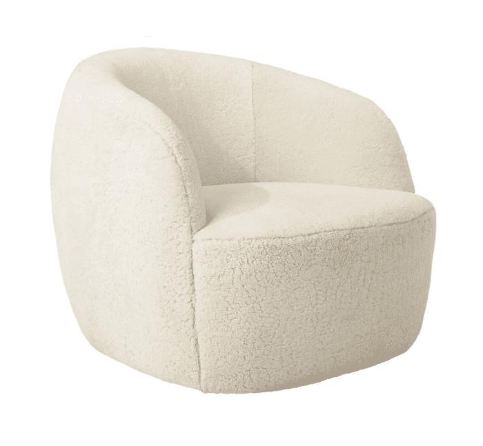 CB2 x Goop Gwyneth Special Edition Shearling Chair