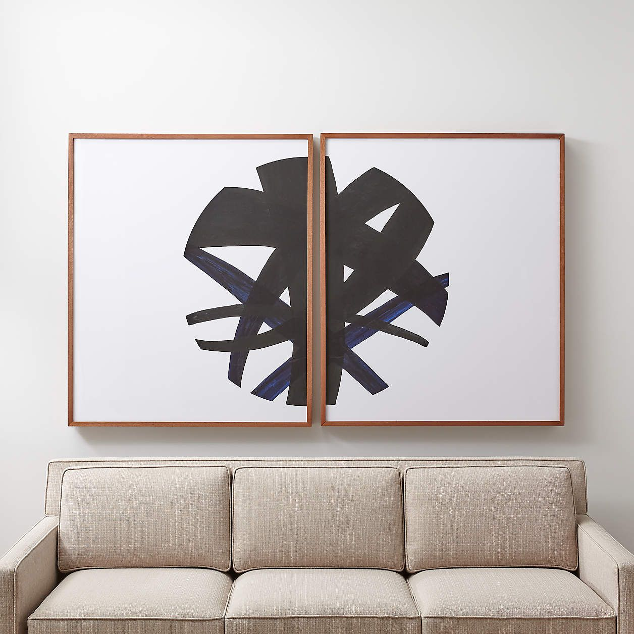 Crate & Barrel Infinity Prints Set of Two