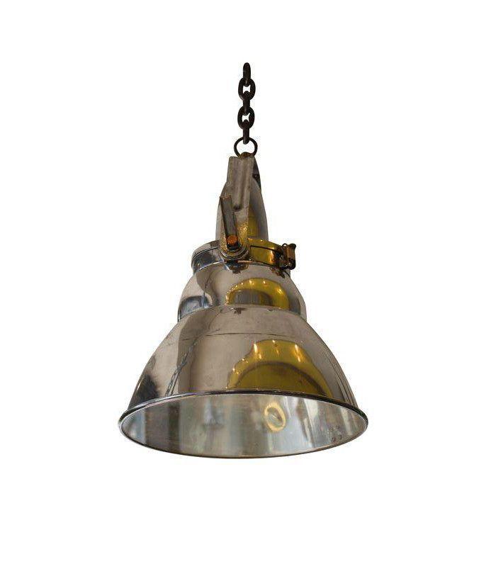 Vintage Industrial Aluminum & Steel Pendant Lamp