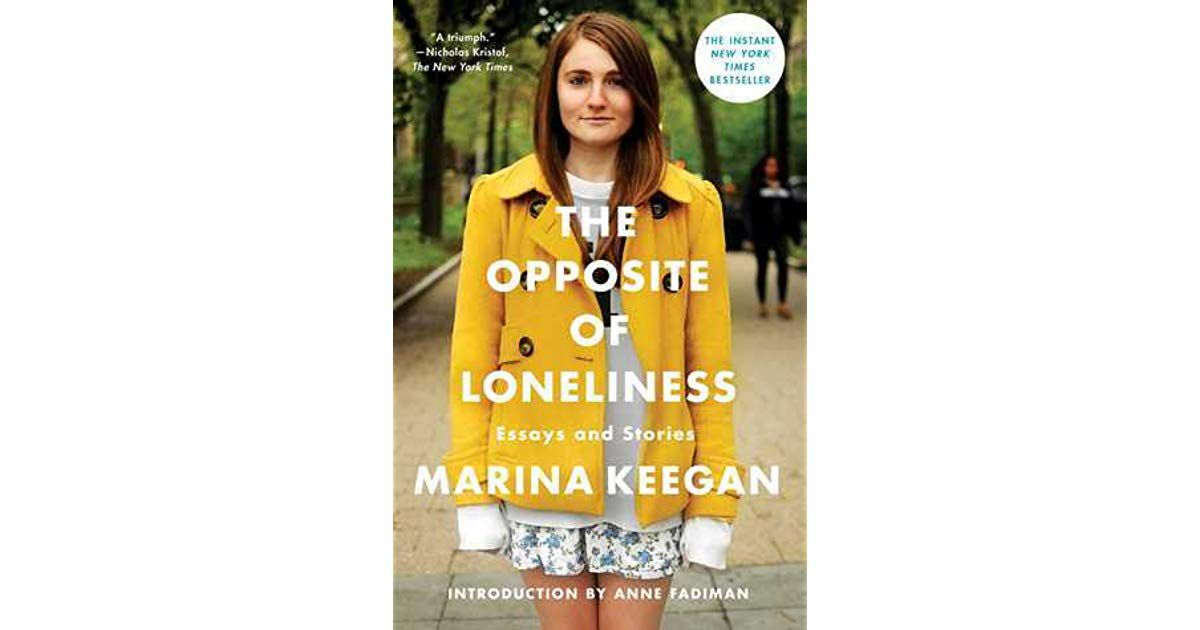 Sobrecubierta The Opposite of Loneliness de Marina Keegan