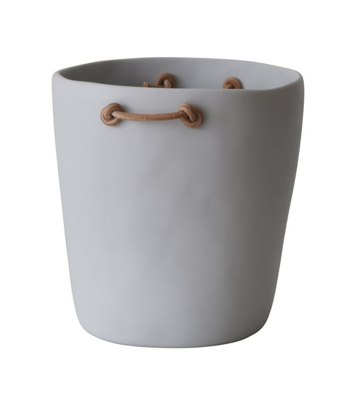Tina Frey Resin Champagne Bucket With Leather Handles