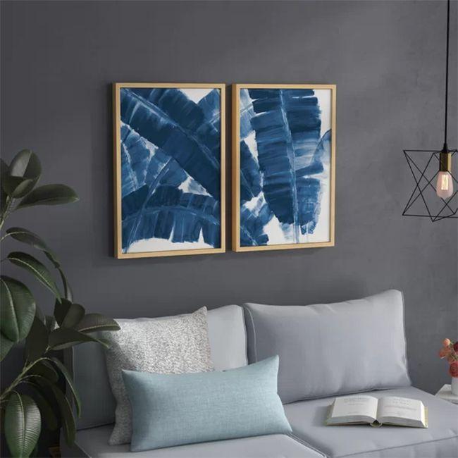 hojas de plátano azul decoración