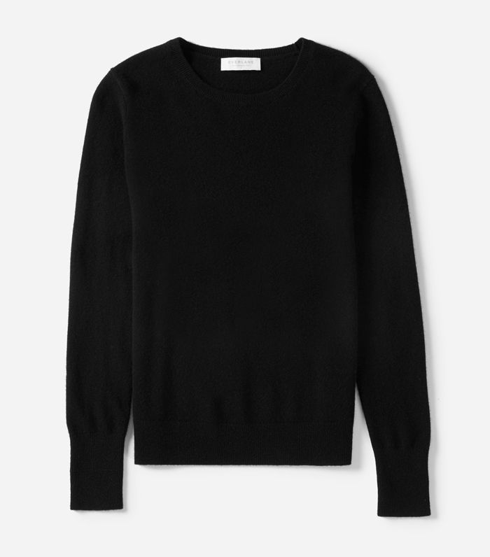 Women's Cashmere Crew Sweater by Everlane in Black, Size XL