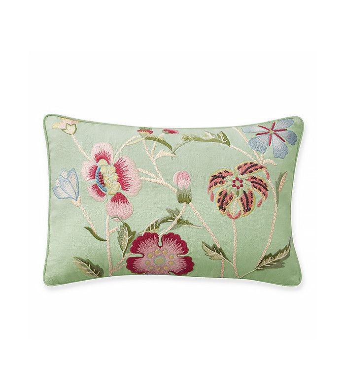 Aerin Lauder for Williams-Sonoma Climbing Floral Embroidered Lumbar Pillow Cover