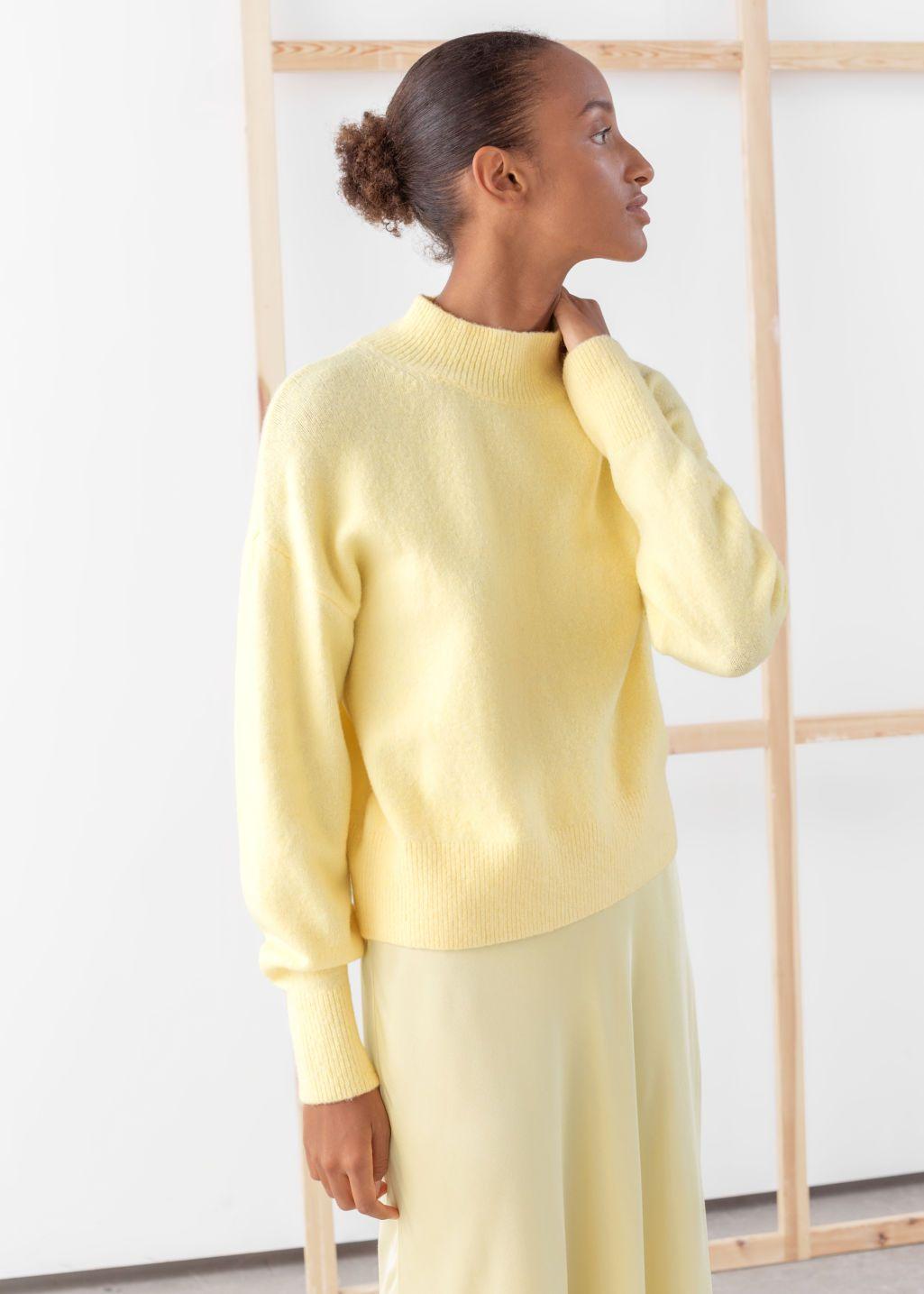 Suéter de cuello falso