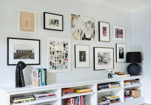 Gray gallery wall