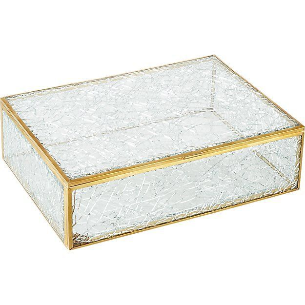CB2 Shatter Glass Box
