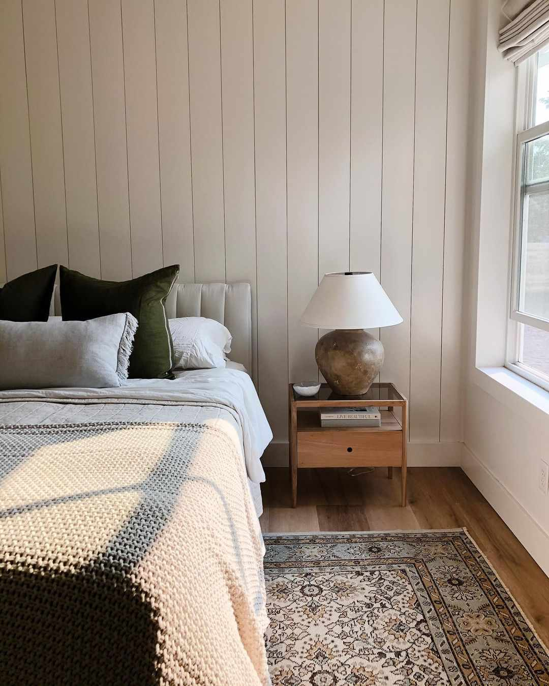 Neutral-colored bedroom