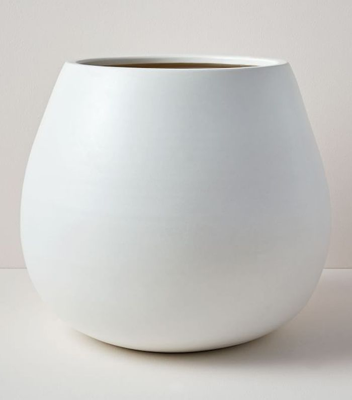 West Elm Pure White Ceramic Planters
