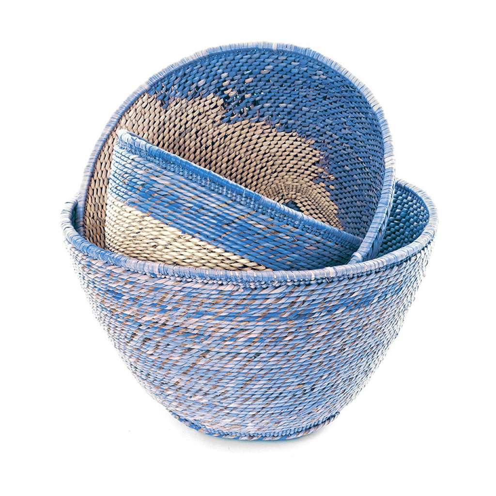 Jungalow Blue Nesting Basket Set