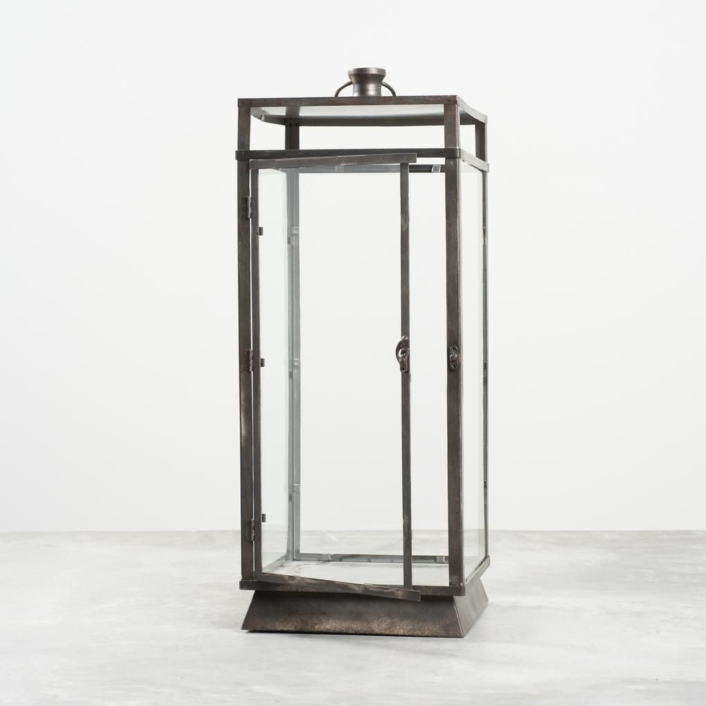 Callie Rectangular Metal Lantern