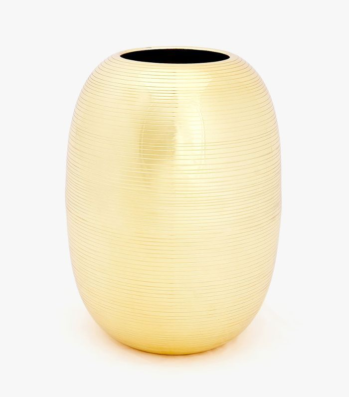 Zara Home Gold Metal Vase