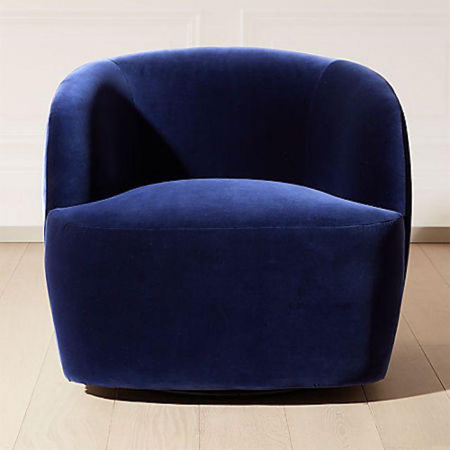 CB2 Gwyneth Velvet Chair
