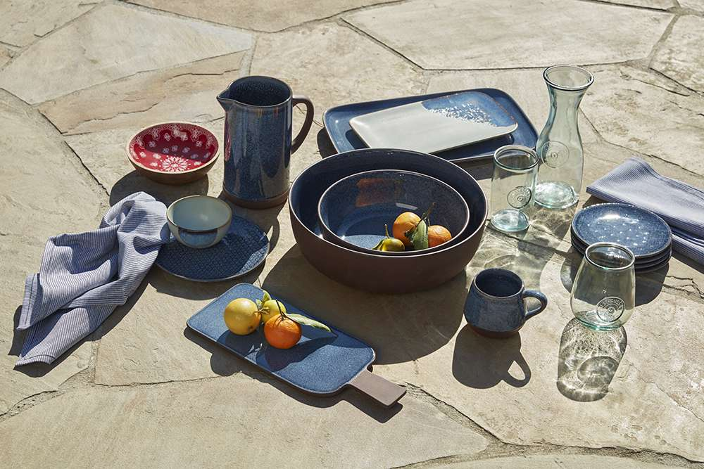 Ceramic dinnerware product shot.