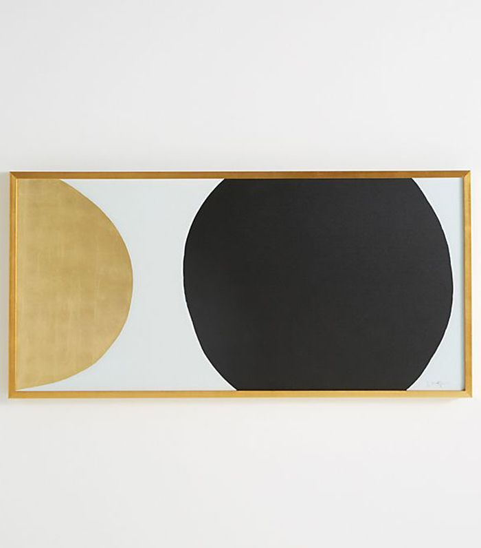 Gold Black Orb Wall Art