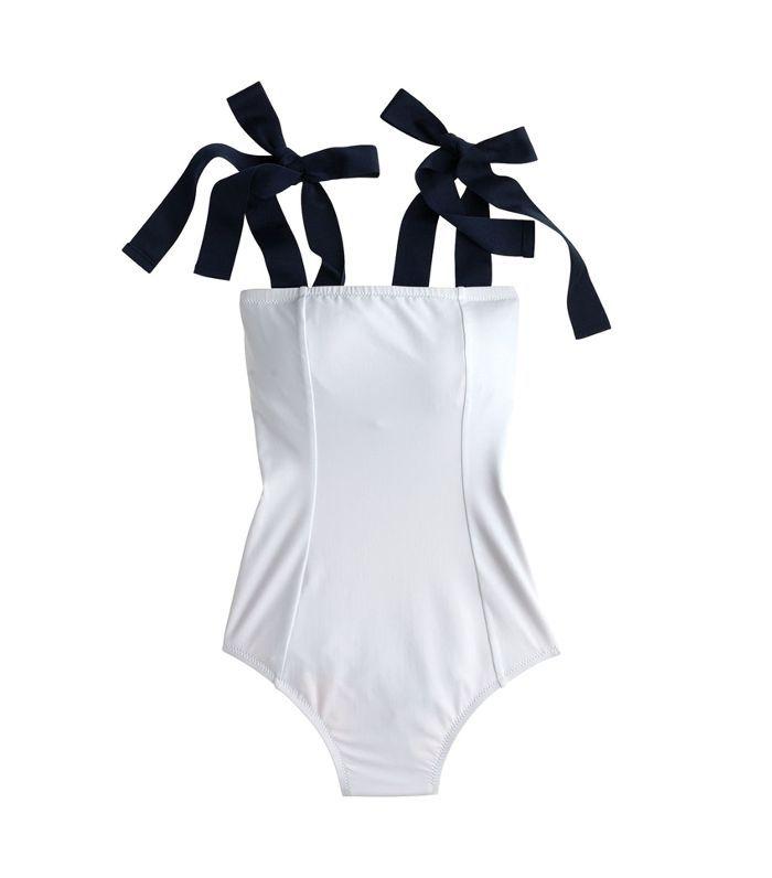 Women's J.crew Grosgrain Tie Shoulder One-Piece Swimsuit
