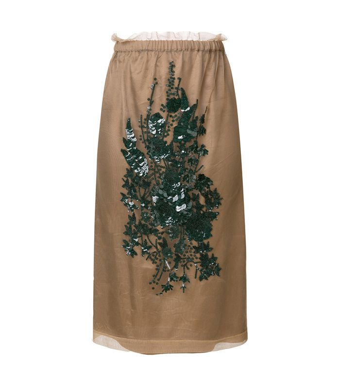 sequin embroidery skirt