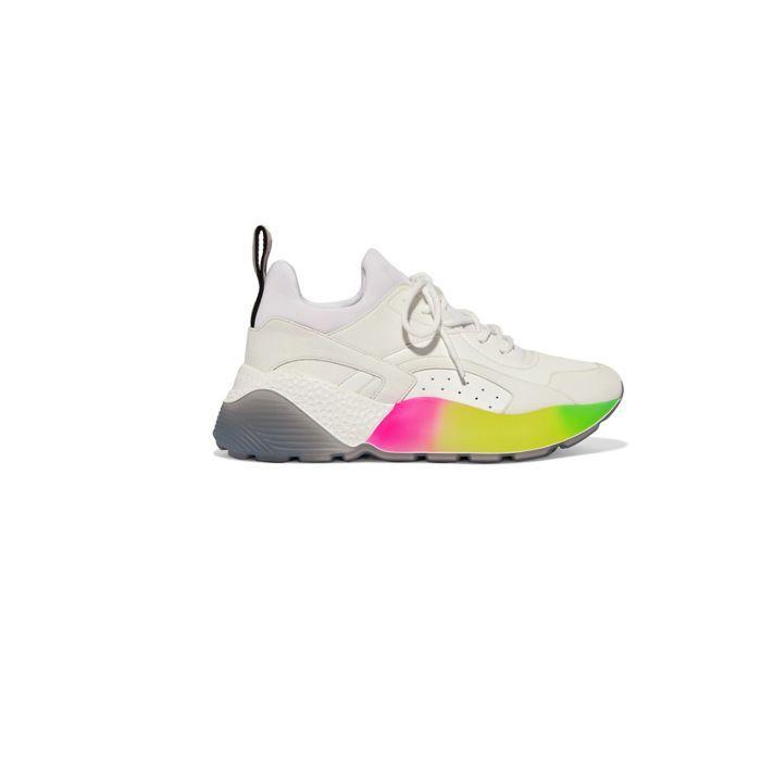 Stella McCartney Suede and Neoprene Sneakers