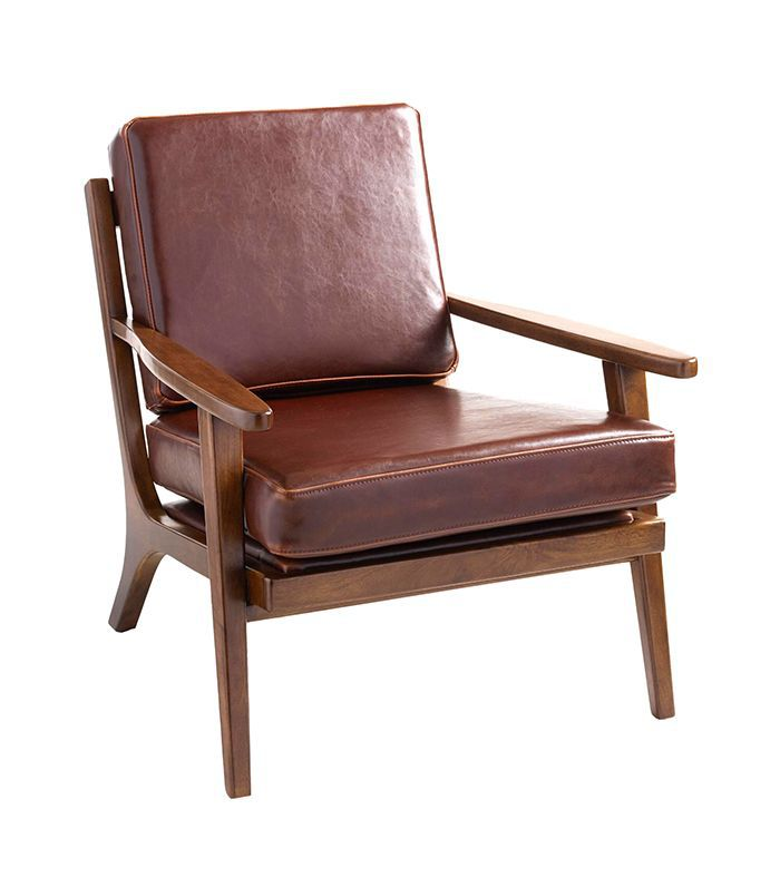 Whiskey Bi Cast Leather Xander Armchair: Brown by World Market