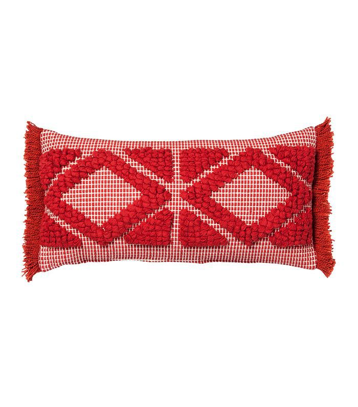 Target Orange Diamond Skinny Lumbar Throw Pillow
