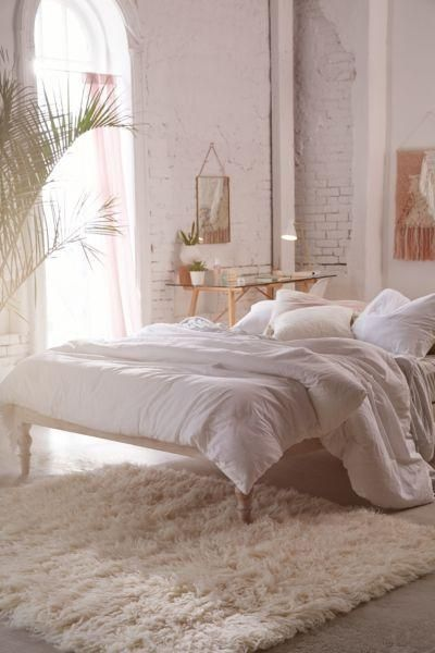 Bohemian Platform Bed - White TW TOP/BED at Urban Outfitters