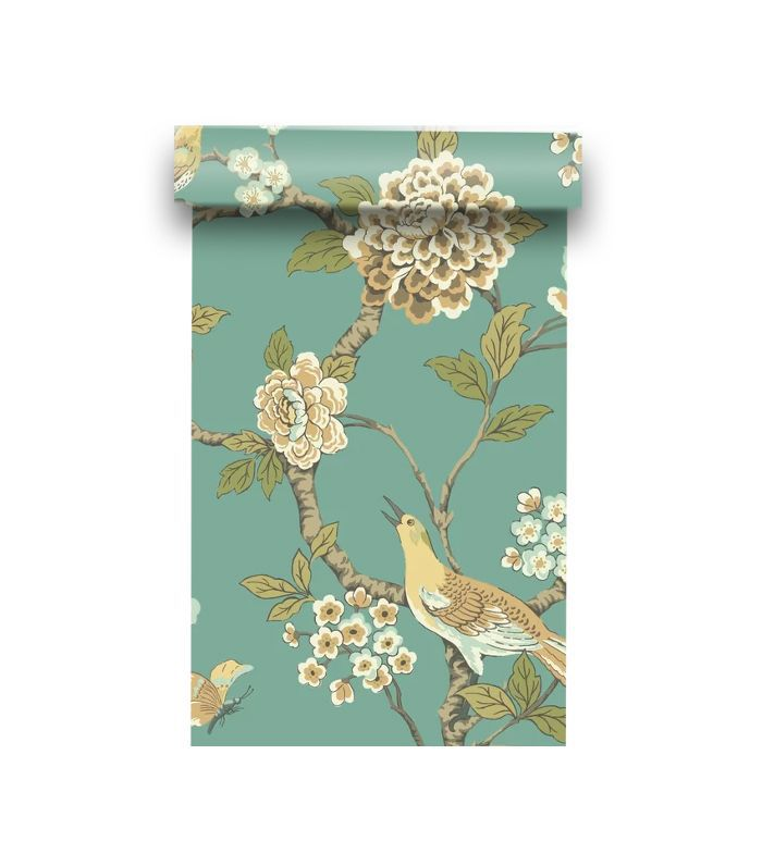 York Wallcoverings Ashford Toiles Fanciful Floral Wallpaper