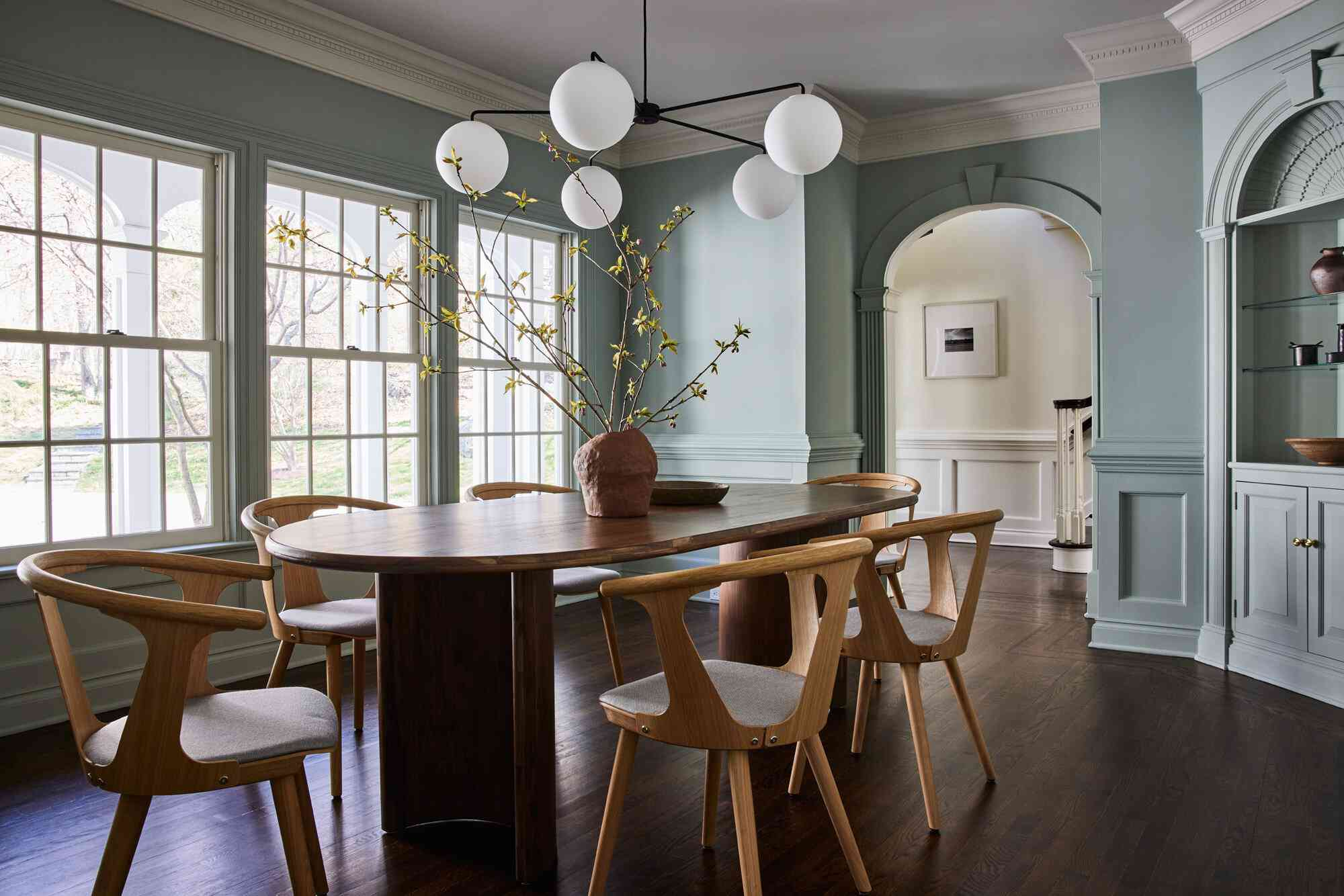 Minty dining room