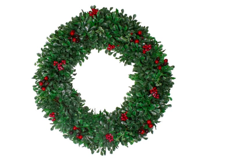 Holly and Cranberry Artificial Christmas Wreath