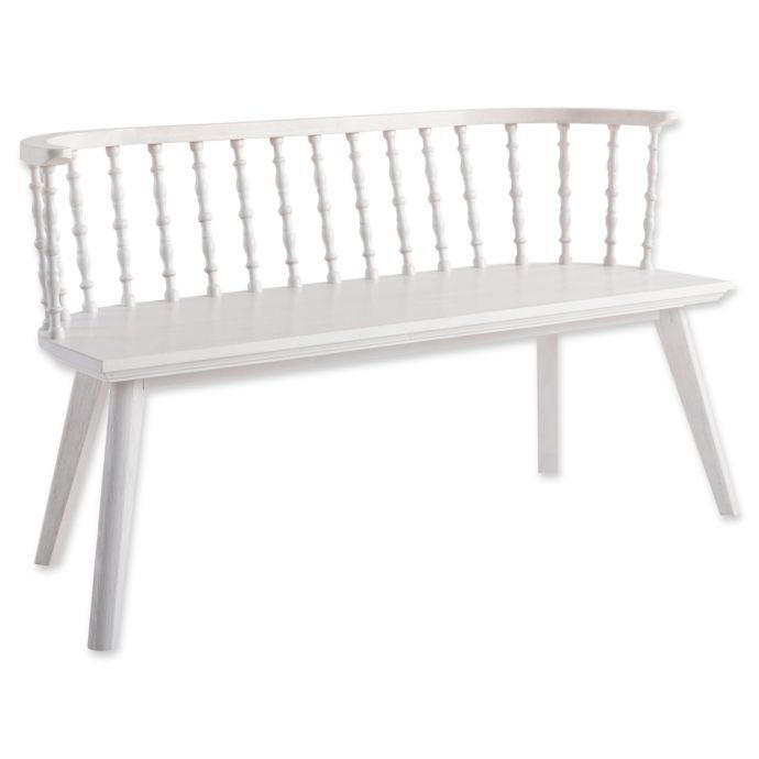 Bee & Willow Home Windsor Bench in White Wash