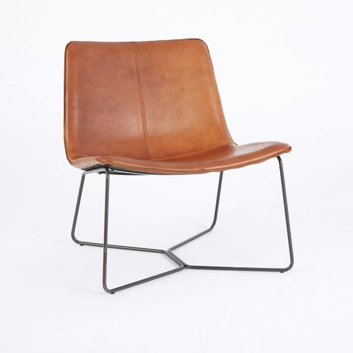 West Elm Slope Leather Lounge Chair Urban Outfitters Home