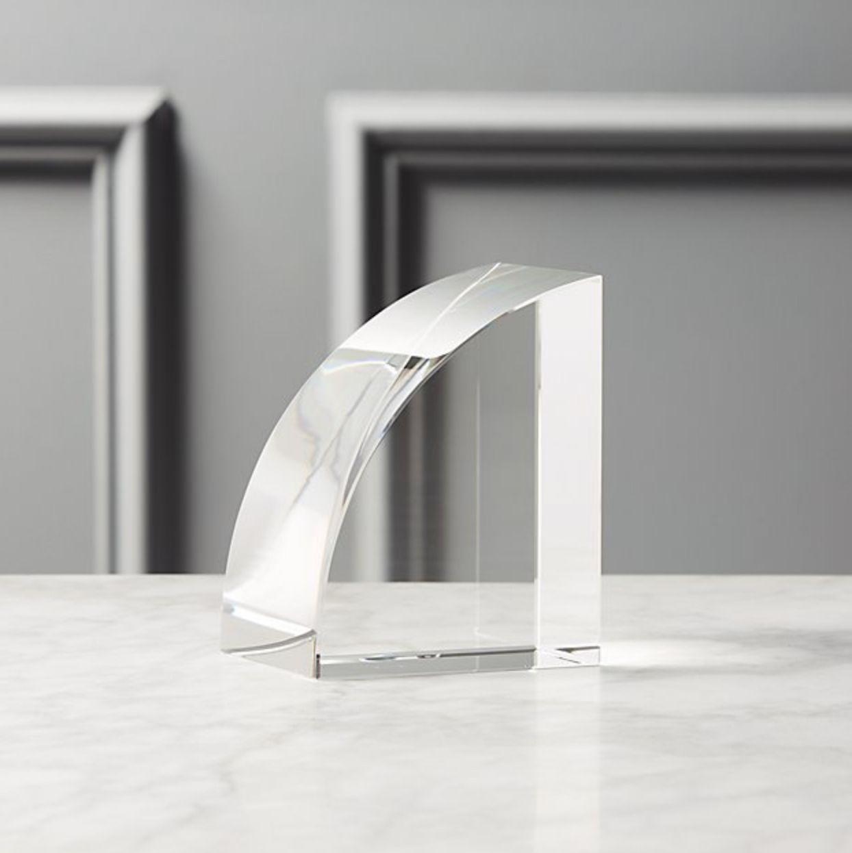 Sujetalibros de cristal