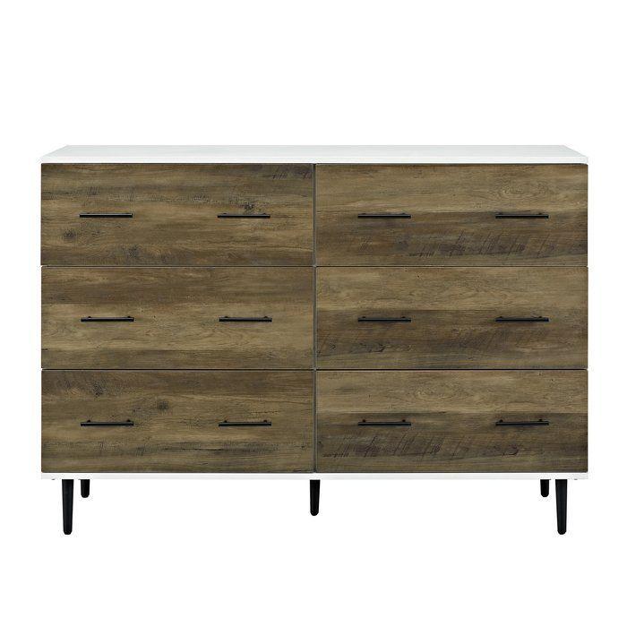 Langley Street Marc Reclaimed 6 Drawer Double Dresser