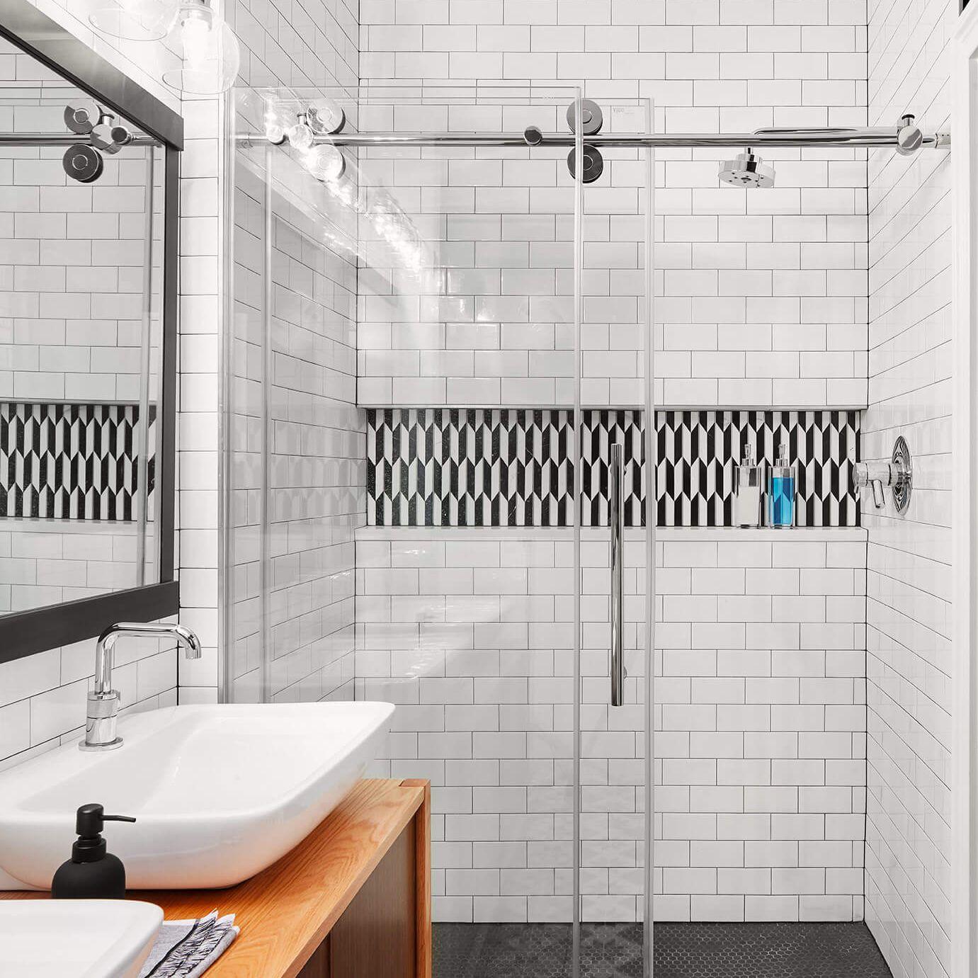 16 Subway Tile Bathroom Ideas To Inspire Your Next Remodel,Indian Non Modular Kitchen Designs