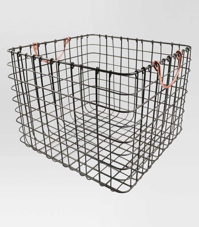 Threshold Wire Large Straight Milk Crate Outdated Kitchen Trends