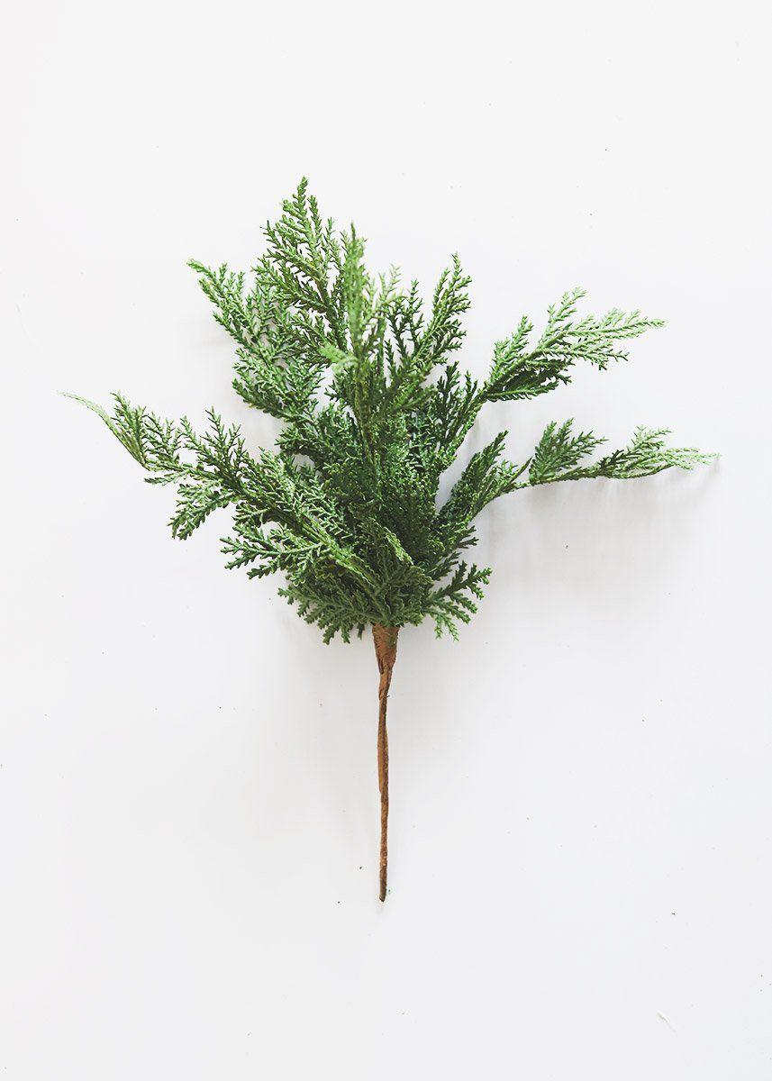 Artificial Natural Touch Cedar Pine Pick
